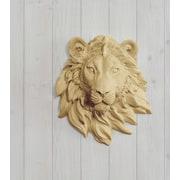 Wall Charmers Saharan Faux Taxidermy Mini Lion Head Wall D cor; Khaki Brown