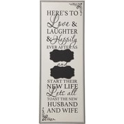 Transpac Words of Wonder and Celebration Here's to Love Wall Decor