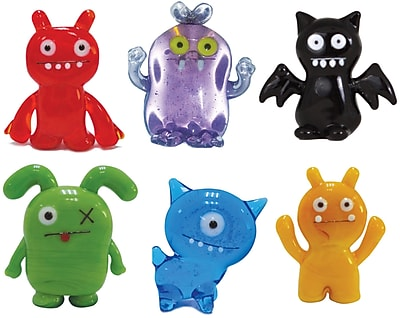 Ugly Doll 6 Piece Abima, Babo, IceBat, Ox, Uglydog and Wage Figurine WYF078280030504