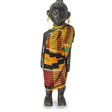 Novica Ghana Queen Mother Wood Figurine