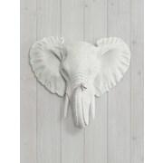 Wall Charmers Savannah Faux Taxidermy Mini Elephant Head Wall D cor; White