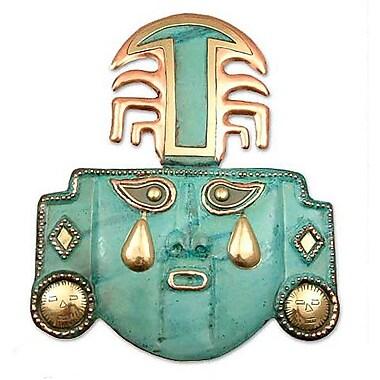 Novica Peruvian Archaeological Mask Wall D cor