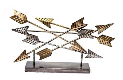 Sagebrook Home Metal Arrow Tabletop Sculpture