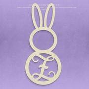 Unfinished Wood Co. Unfinished Monogram Bunny Decor; Z