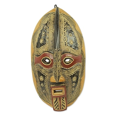 Novica Ornate Hand-Crafted Malian African Mask Wall D cor