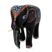 Novica Lacquered Wood Figurine