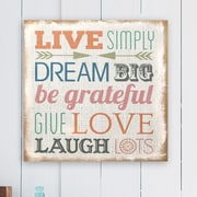 Stratton Home Decor Love Simply Typography Burlap Wall D cor