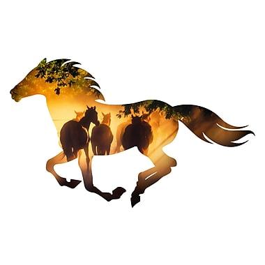 Next Innovations Running Horse Allegiance Wall D cor; Misty Morning Running Horse