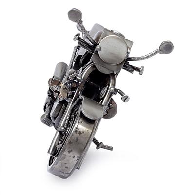 Novica Motorcycle Metal Recycled Sculpture