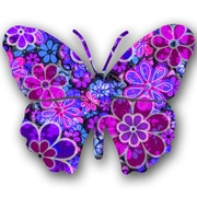 Next Innovations Steel Blossom Butterfly 3D Wall Decor