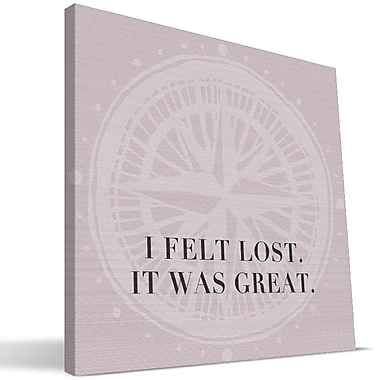 Paulson Designs Travel 'Felt Lost Travel' Textual Art on Wrapped Canvas