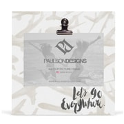 Paulson Designs Travel 'Let's Go Everywhere' Clip Picture Frame