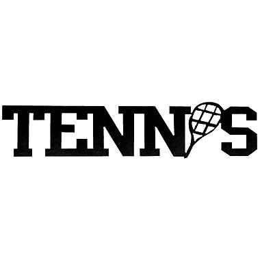 7055 Inc Tennis Word Wall D cor; Hammered Black