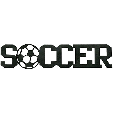 7055 Inc Soccer Word Wall D cor; Hammered Black