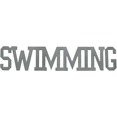 7055 Inc Swimming Word Wall D cor; Hammered Silver
