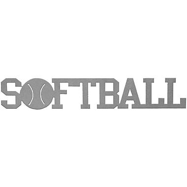 7055 Inc Softball Word Wall D cor; Hammered Silver