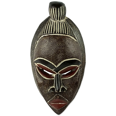 Novica Artisan Hand Carved Mask Wall D cor