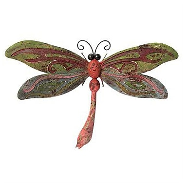 Very Cool Stuff Rusted Metal Dragonfly Wall D cor
