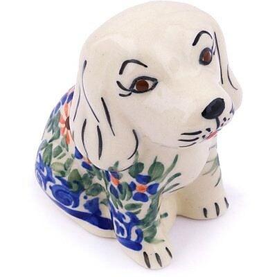 Polmedia Polish Pottery 4'' Dog Figurine