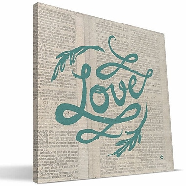 Paulson Designs Faith 'Corinthians Love' Textual Art on Wrapped Canvas