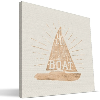 Paulson Designs Beach ''Float My Boat'' Textual Art on Wrapped Canvas