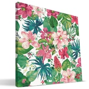 Paulson Designs Beach 'Tropical Flowers' Painting Print on Wrapped Canvas