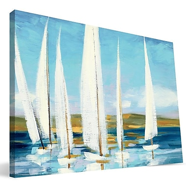 Paulson Designs Beach 'Sailboats' Painting Print on Wrapped Canvas