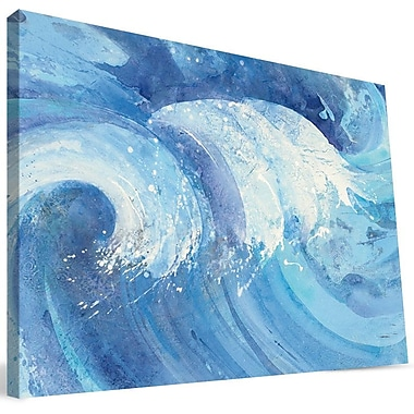 Paulson Designs Beach 'Crashing Wave' Painting Print on Wrapped Canvas