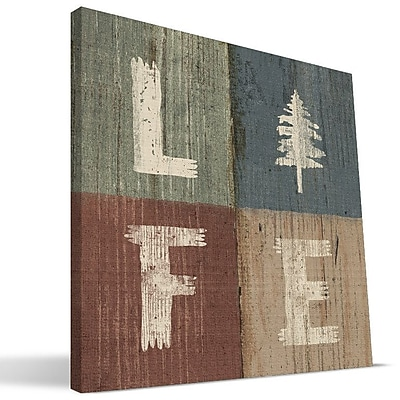 Paulson Designs Outdoors 'Life' Textual Art on Wrapped Canvas