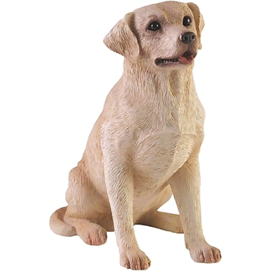 Sandicast Small Size Sculptures Retriever Figurine; Yellow