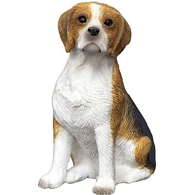 Sandicast Small Size Sculptures Sitting Beagle Figurine