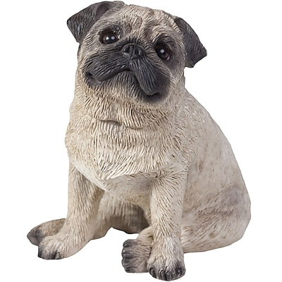 Sandicast Small Size Sculptures Pug Figurine