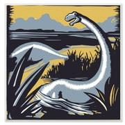 Stupell Industries Graphic Dinosaur Wall Plaque