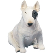 Sandicast Original Size White/Spot Bull Terrier Sculpture