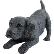 Sandicast Small Size Labrador Retriever Sculpture; Black