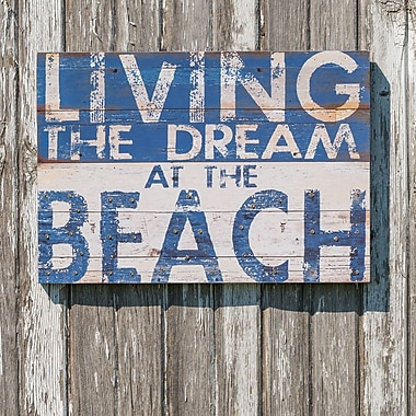 Ragon House Collection Living the Dream Beach Wall D cor