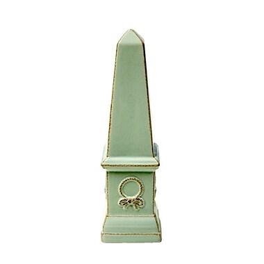 Sagebrook Home Ceramic Finial D cor; 13.25'' H x 3.75'' W x 3.75'' D