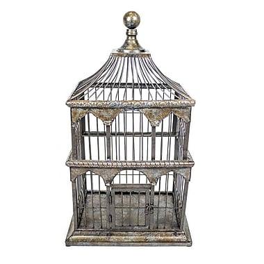 Sagebrook Home Metal Bird Cage; 24'' H x 10.25'' W x 13.75'' D
