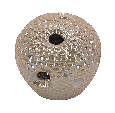 Sagebrook Home Ceramic Sea Urchin Orb