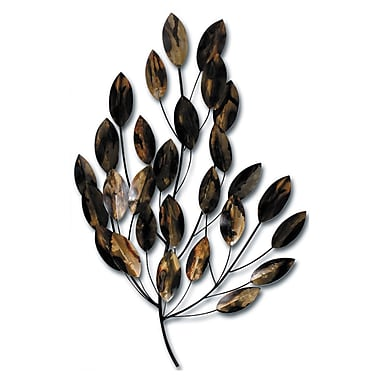 Propac Images Bronze Metal Leaves Wall D cor