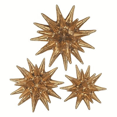 Propac Images 3 Piece Golden Urchins Wall D cor Set