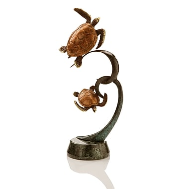 SPI Home Double Turtles on Ribbon Figurine