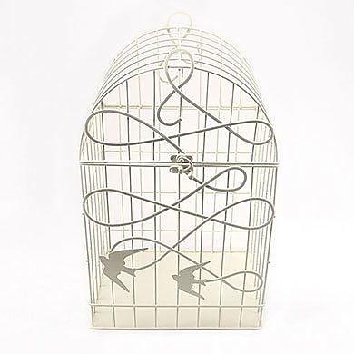 Weddingstar Modern Decorative Bird Cage; White