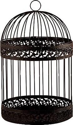 August Grove Sofie Decorative Bird Cage; Black