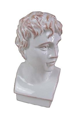 Sagebrook Home Ceramic Roman Bust