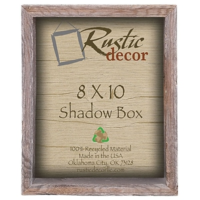 RusticDecor Collectible Shadow Box Picture Frame; 11'' H x 9'' W x 4'' D