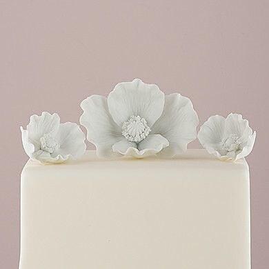 Weddingstar 3 Piece Porcelain Bisque Poppy Blooms Sculpture Set