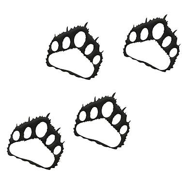 7055 Inc Bear Paw Prints Wall D cor (Set of 4); Hammered Black