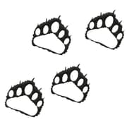 7055 Inc Bear Paw Prints Wall D cor (Set of 4); Hammered Black