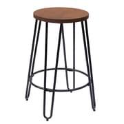 Ace Casual Furniture Quinn 23.82'' Bar Stool; Matte Black
